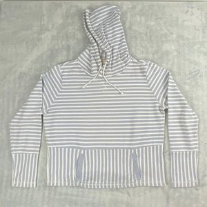 J Crew Striped Hooded Sweatshirt Kangaroo Pocket